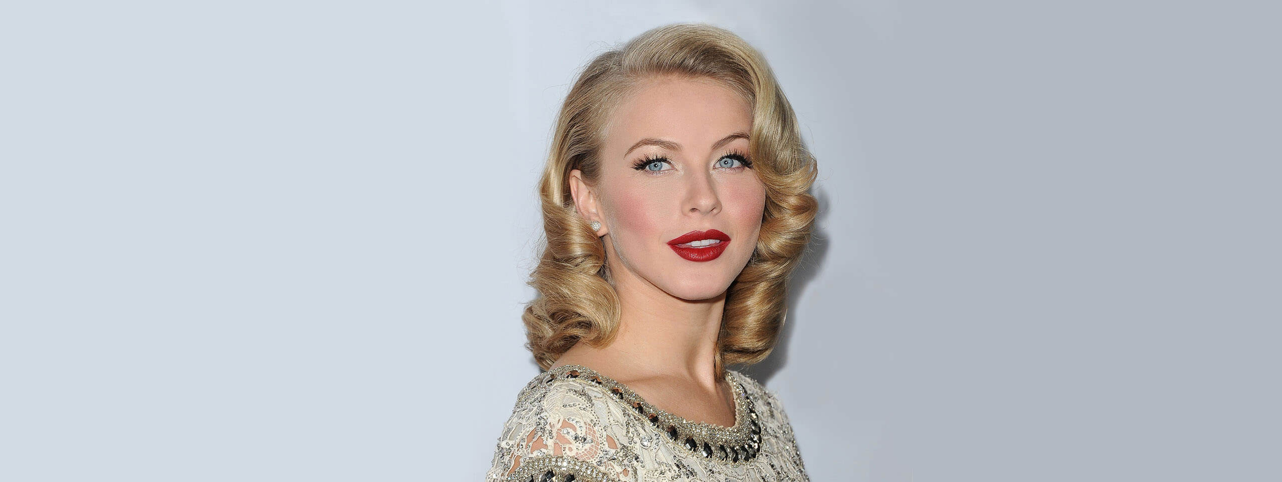 Julianne Hough with vintage curly hairstyle