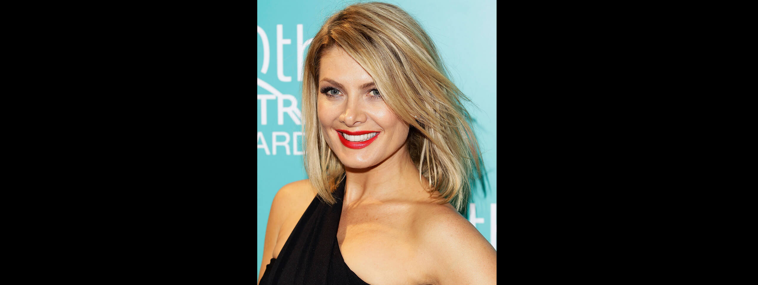 Natalie Bassingthwaighte with short blonde hairstyle