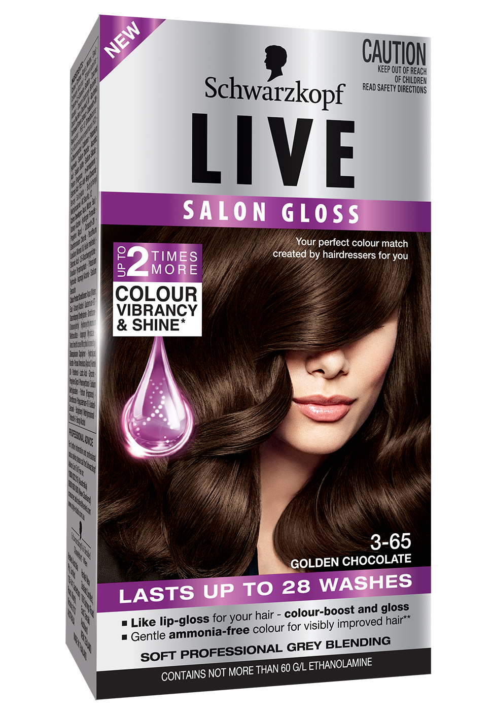 295LIVESalonGloss3DLF365GoldenChocolate