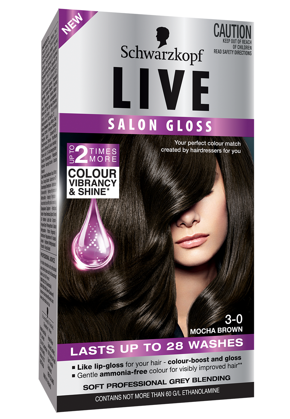 299LIVESalonGloss3DLF30MochaBrown