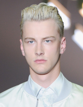 2014 Hairstyles for Men: Bleached Blonde