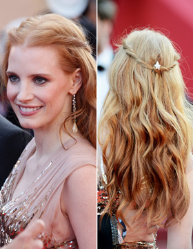 Hairstyles in Cannes: Jessica Chastain