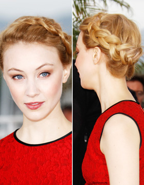 Hairstyles in Cannes: Sarah Gadon