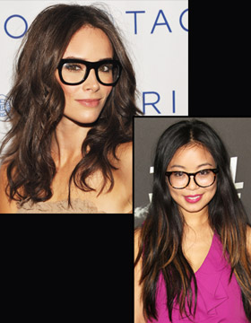 Hairstyle plus Glasses: Abigail Spencer and Michelle Ang