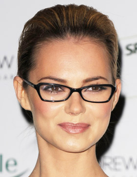 Hairstyle and Glasses: Kara Tointon