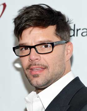 Ricky Martin with Glasses